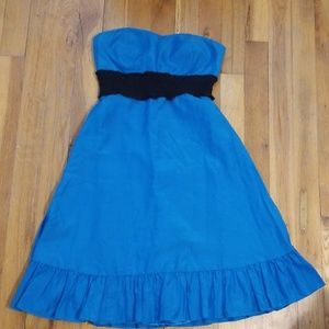 Womens blue/green satin dress